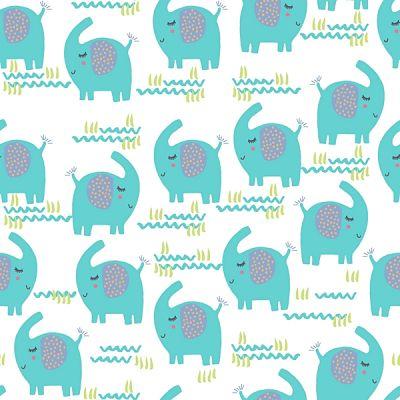 adlico-flanelle-elephant-turquoise-bleu