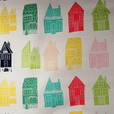 artgallery-coton-happyhome-maison-multicolore-rouge-vert-bleu-jaune