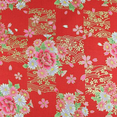 kokka-princess-rouge-traditionnel-or-fleurs