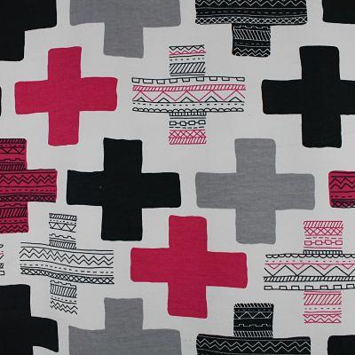 lapandalovefabrics-sweat-bio-croix-rose-fushia