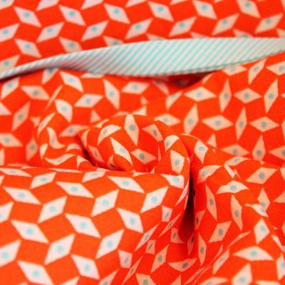 petit-pan-coton-losange-orange-point-turquoise