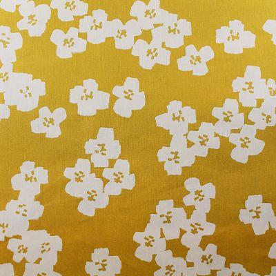 ricodesign-enduit-fleurs-jaunes-moutarde-blanc