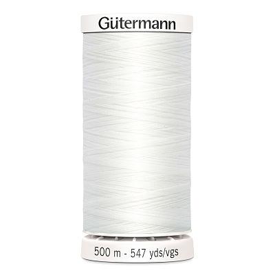 Gutermann-polyester-500m-blanc