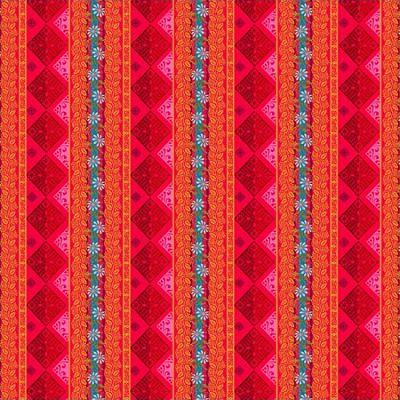 odilebailloeul-coton-seville-rose-bleu-jaune-motif-geometrique-fleur