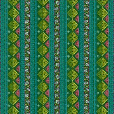 odilebailloeul-coton-seville-vert-rose-bleu-jaune-fleur-motif-geometrique