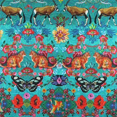 odilebailloeul-coton-turquoise-chat-papillon-coquelicot-fleur-poisson-antilope-rouge-rose-vert-jaune