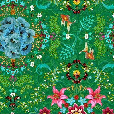 odilebailloeul-coton-vert-coquelicot-bleu-fleur -lys-poisson-papillon