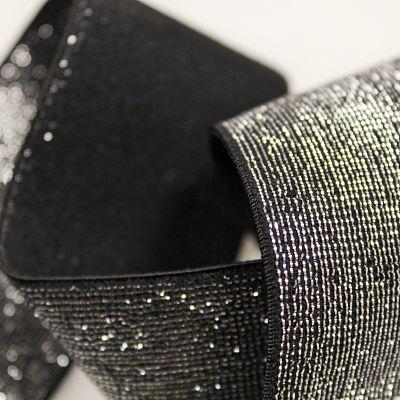 elastique-noir-lurex-argent