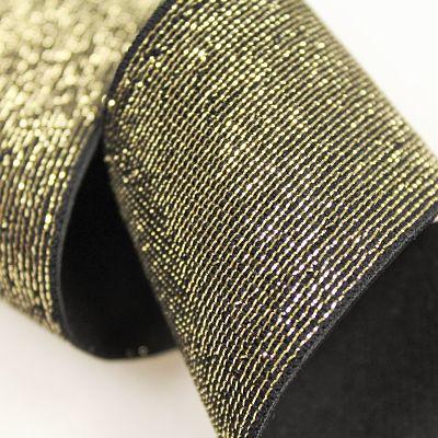 elastique-noir-lurex-or-dore