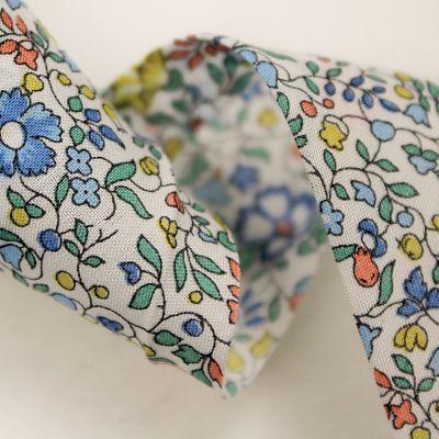 liberty-biais-katie-and-millie-bleu-vert-fleurs-feuilles