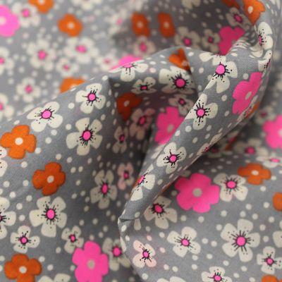 petit-pan-coton-fleurs-ile-rose-orange-fluo-gris
