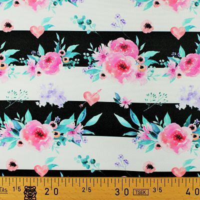 la-panda-love-fabrics-oxford-impermeable-fleurs-pastel-rayure-noir-blanc