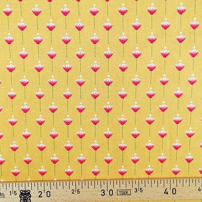 michael-miller-coton-let-knidness-grow-fleurs-jaunes