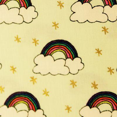 rico-design-coton-menthe-or-arc-en-ciel-nuage-etoile