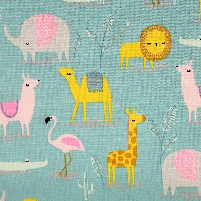 coton-dersert-family-menthe-chameau-lion-girafe-elephant-flamant-lama-savane