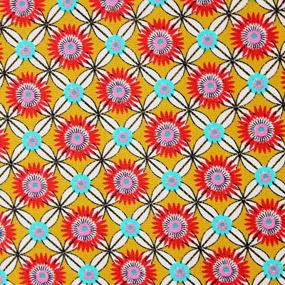 coton-fabulous-flowers-geometrique-turquoise-jaune-rouge-rond