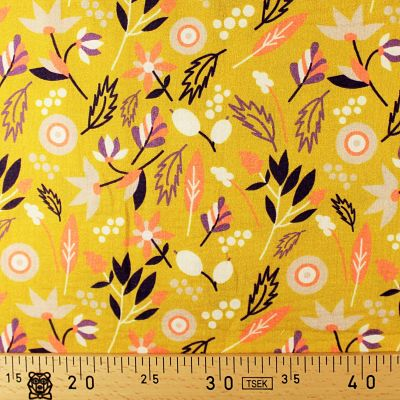 la-panda-love-fabrics-double-gaze-bio-coton-moutarde-floral