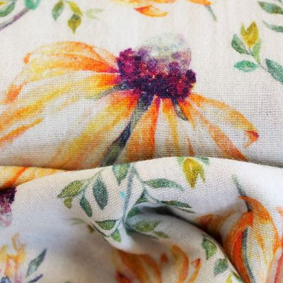la-panda-love-fabrics-double-gaze-coton-bio-fleurs-blanc-orange-violet