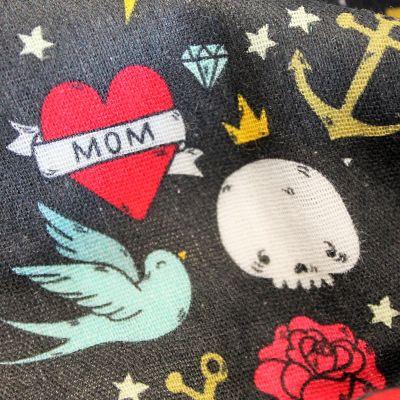la-panda-love-fabrics-double-gaze-coton-bio-tatoo-coeur-old-school-hirondelle-ancre-crane-tete-mort