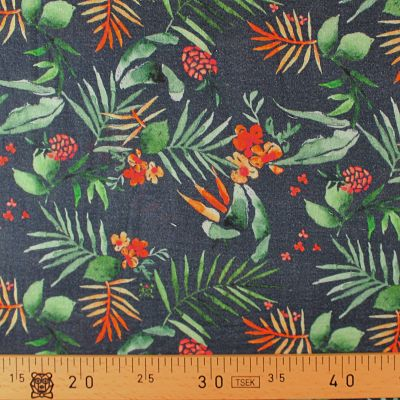la-panda-love-fabrics-double-gaze-bio-coton-tropical-ananas-feuille