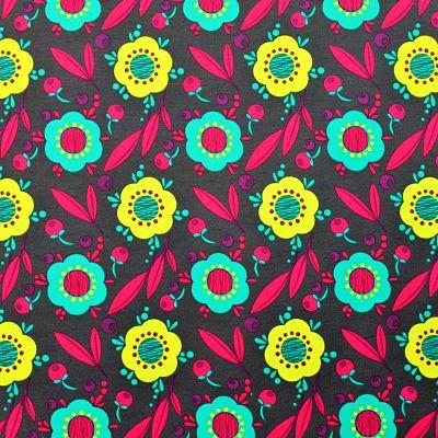 lillestoff-jersey-bio-joyeux-berry-fleurs-jaune-turquoise-rose