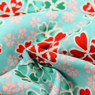 petit-pan-coton-junko-bleu-ciel-fleur-rouge