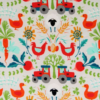 odile-bailloeul-jersey-coton-bio-fermette-gris-tracteur-poule-légumes