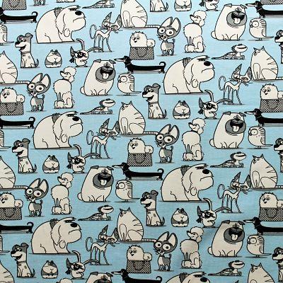 jersey-bleu-ciel-chien-comme-des-betes-animaux-coton