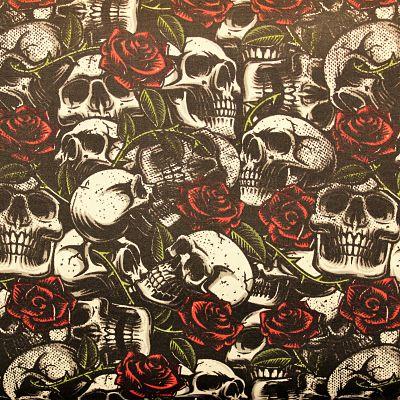 coton-skulls-noir-blanc-crane-rose-old-shcool-tatouage