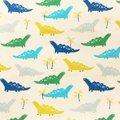 coton-dinosaure-bleu-blanc-turquoise