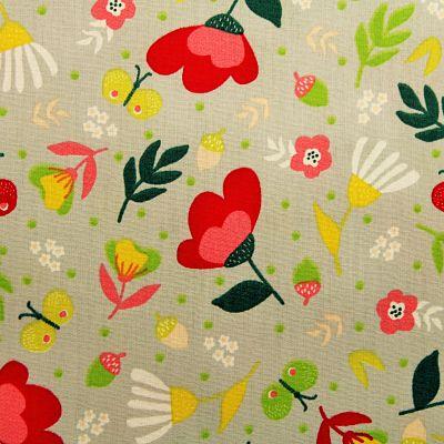 coton-flowers-gris-rouge-jaune-papillon
