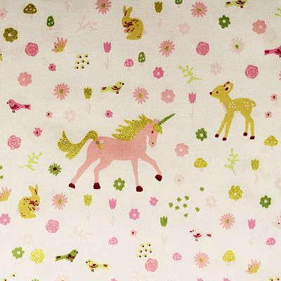 coton-blanc-licorne-faon-rose-or-girly