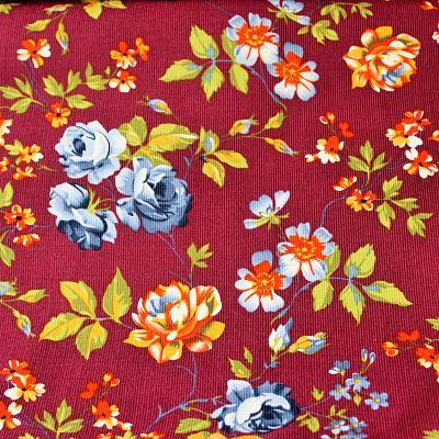 velours-milleraie-bordeaux-fleurs-roses