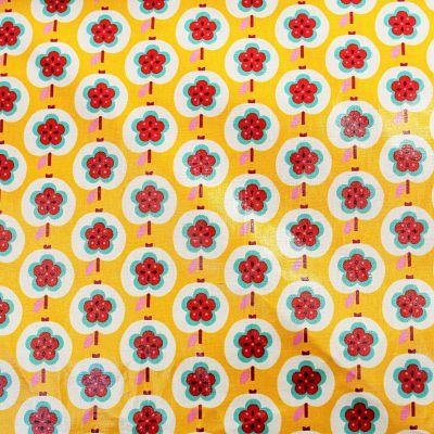 enduit-kokka-sweet-apple-fleur-jaune-pomme
