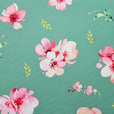 soft-shell-impermeable-manteau-fleur-cerisier-vert-eau-papa-ours-tissu