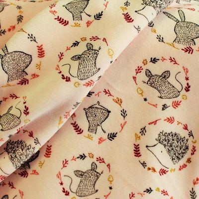 velours-pyjama-galinette-rose-lapins-animaux-herisson-couronne-fleurs-souris