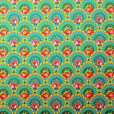 odile-bailloeul-coton-bio-mini-gala-jaune-retro-circus