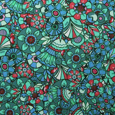 odile-bailloeul-coton-paillette-turquoise-sequin-retro-circus