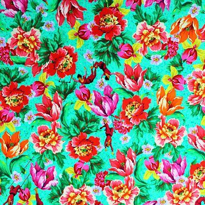 odile-bailloeul-coton-bio-voltige-turquoise-acrobate-fleur-circus-retro