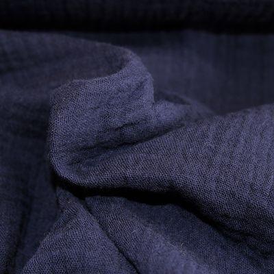 double-gaze-coton-bleu-marine