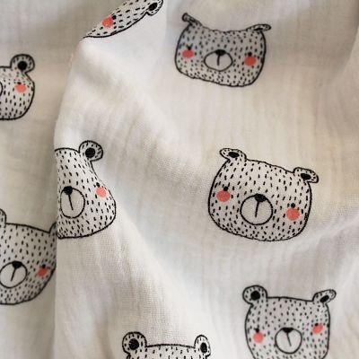 double-gaze-coton-ours-blanc