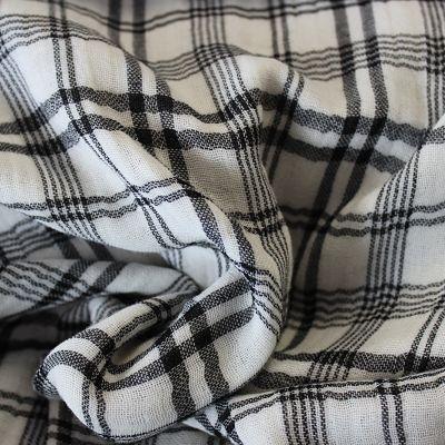 katia-mousseline-coton-tartan-carreaux-noir-blanc