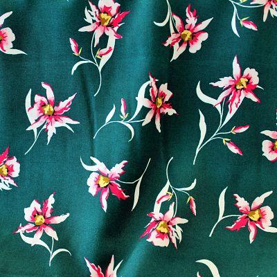 viscose-vert-canard-fleurs-rose