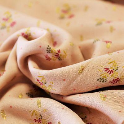 viscose-petites-fleurs-rose-or-lurex