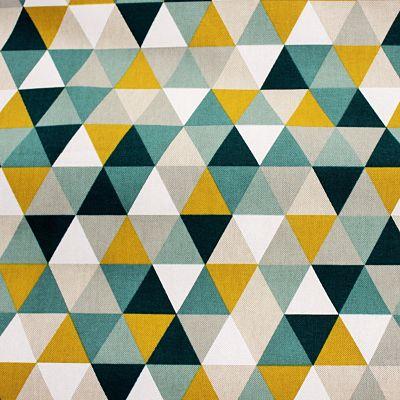 toile-ameublement-triangle-geometrics-tile-vert-moutarde