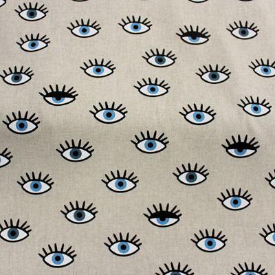 toile-lin-ameublement-i-got-my-eyes-yeux-bleu