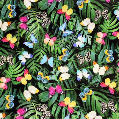 toile-ameublement-feuilles-papillon