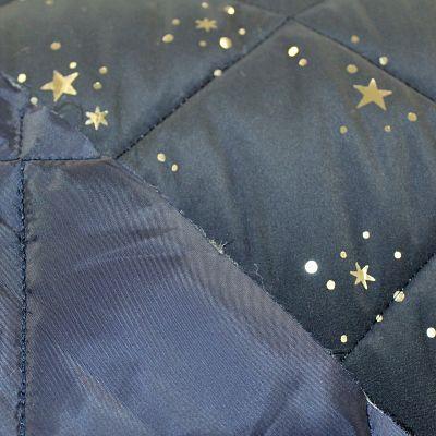 matelasse-bleu-marine-etoile-lune-argent-tissu-doudoune