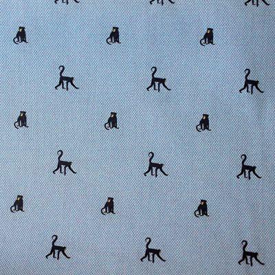 popeline-bleu-jeans-singe-tissu-chemise
