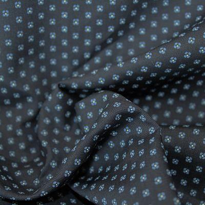 popeline-marine-coton-fleurs-bleue-tissu-chemise
